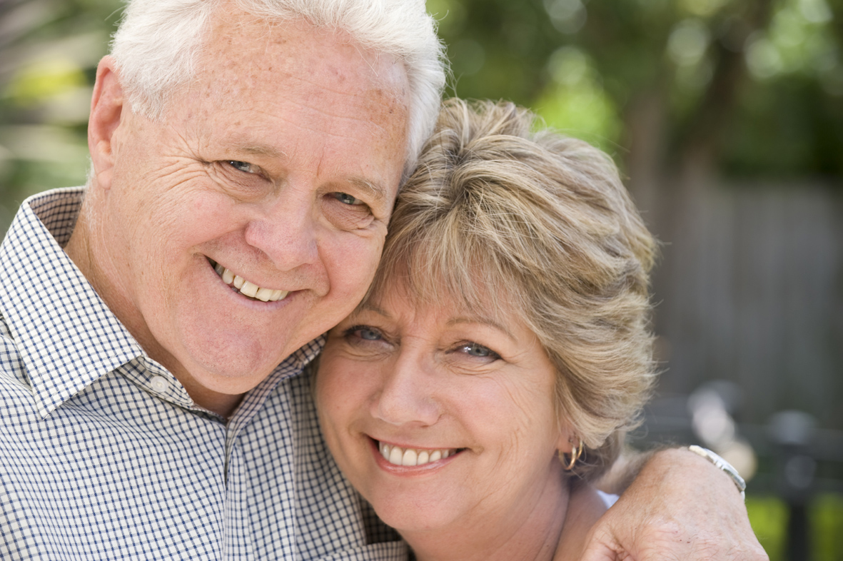 Middle aged couple enjoy brighter, naturally white teeth with air polishing at Manor Dental Health in Hull