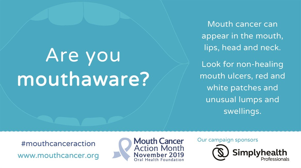 Mouth cancer - get checked at Manor dental Health in Willerby Road Hull